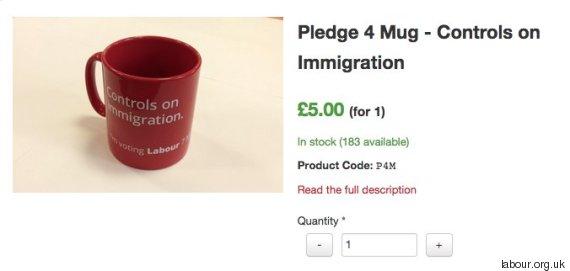 labour immigration mug