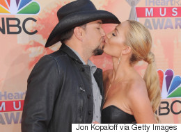 Newlyweds Jason Aldean & Brittany Kerr Share Some Sweet PDA