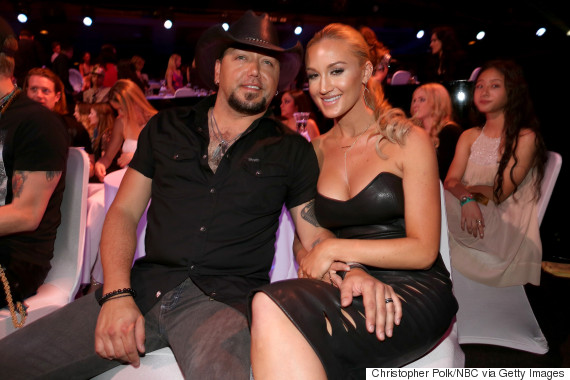 Jason Aldean Amp Brittany Kerr Make Debut As Married Couple At IHeartRadio Awards