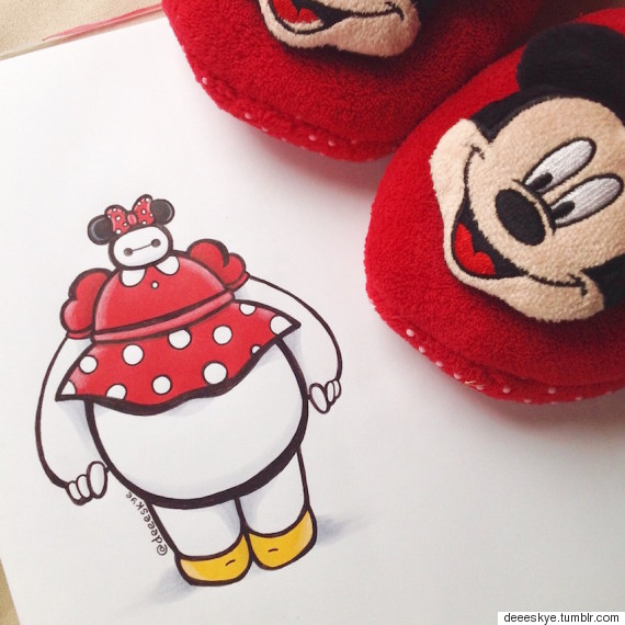 baymax minnie mouse