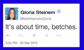 gloria steinem tweet