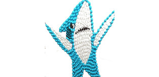 6-Foot-Tall Replica Of Left Shark, Made Of Peeps