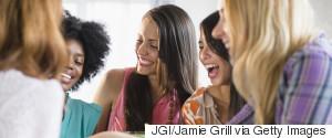 WOMEN LAUGHING DIVERSE