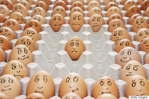 egg carton faces