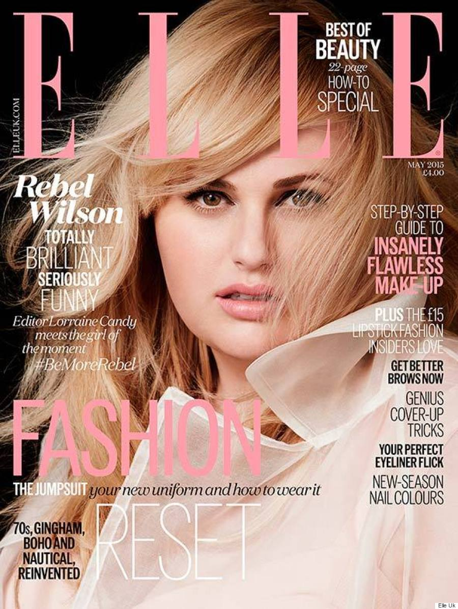 Rebel wilson is retro glam on the cover of elle uk for Elle magazine this month