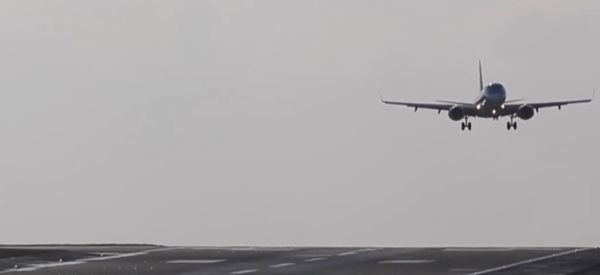 Terrifying Video Shows Wobbly Planes Landing Almost Sideways Due To High Winds