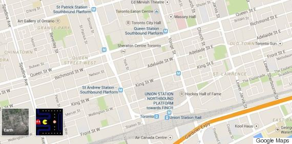 Google Maps Lets You Play Pacman On The Streets Of Canada: Google Street Maps Montreal Canada At Usa Maps