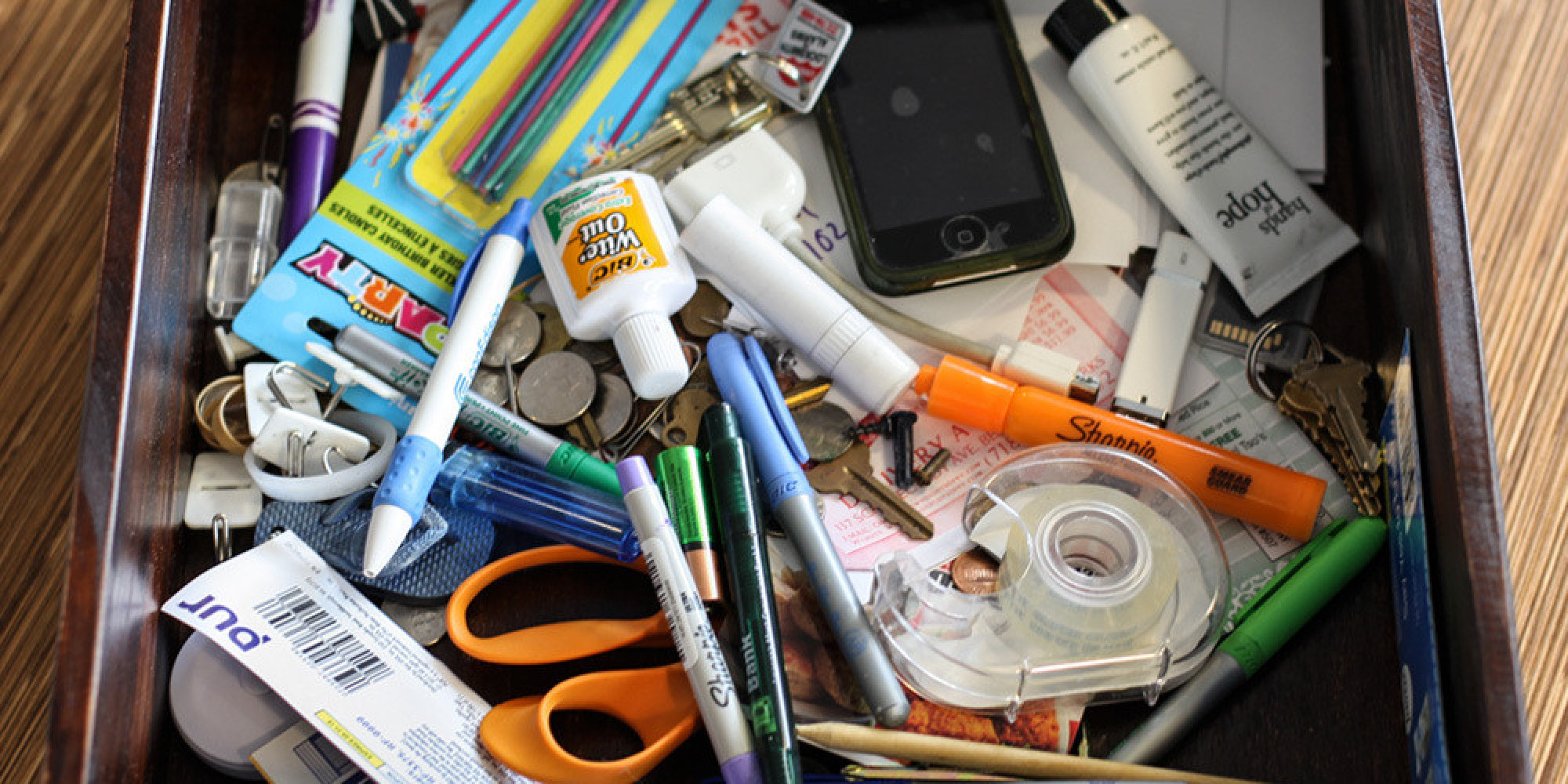 """Whether you've intended to or not, you probably have a junk drawer in your home. And that might not be a bad thing.  """"Junk drawers are the perfect resting place ..."""
