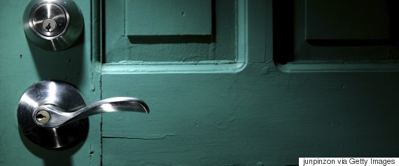 door knob in dark