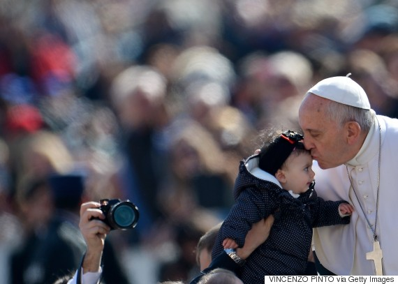 pope francis kissing