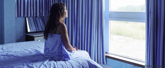 girl alone in her bedroom