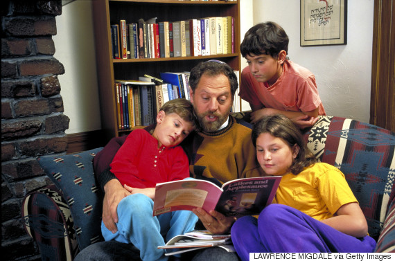 child reading parent jewish