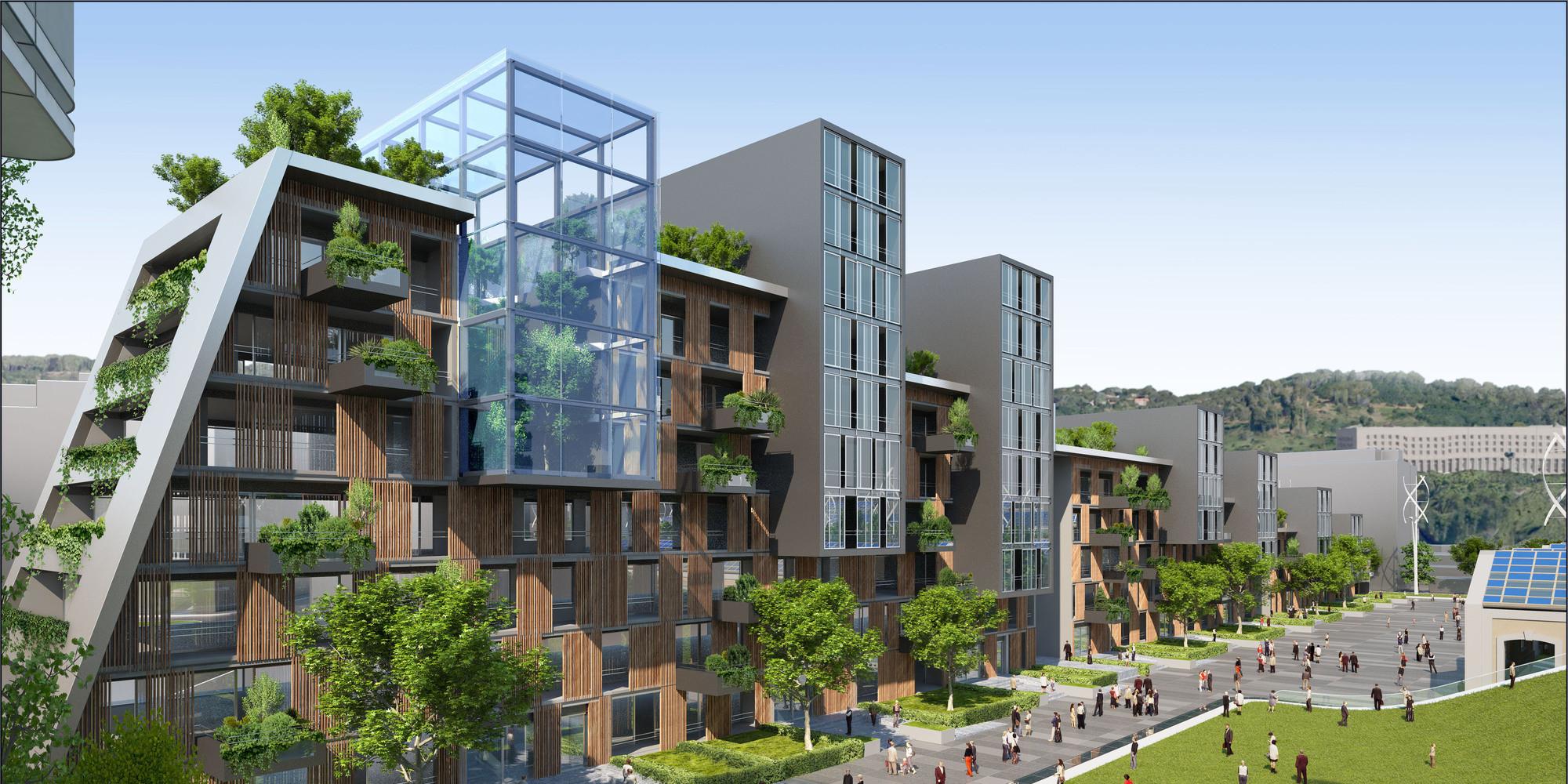 Ville du futur l 39 architecte vincent callebaut imagine l for Projet piscine