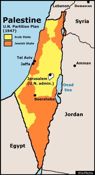 Israel MAP The Palestinian Regions Changing Borders HuffPost - Isreal map