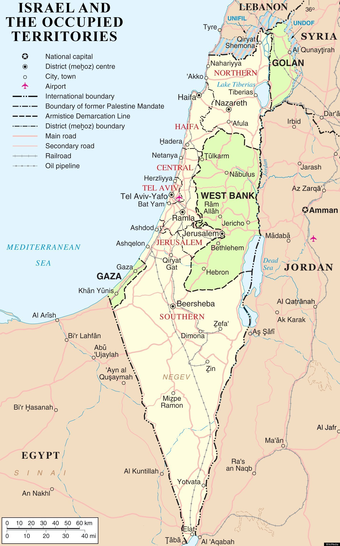 Palestine Israel Map Israel MAP: The Palestinian Region's Changing Borders | HuffPost Palestine Israel Map