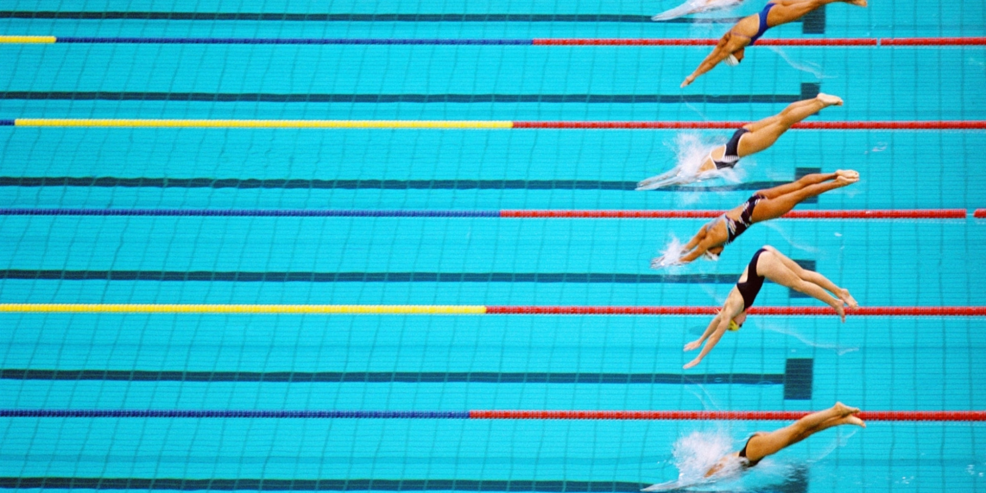 Pool chemicals may explain higher rates of asthma among endurance swimmers huffpost for Olympic swimming pool pictures