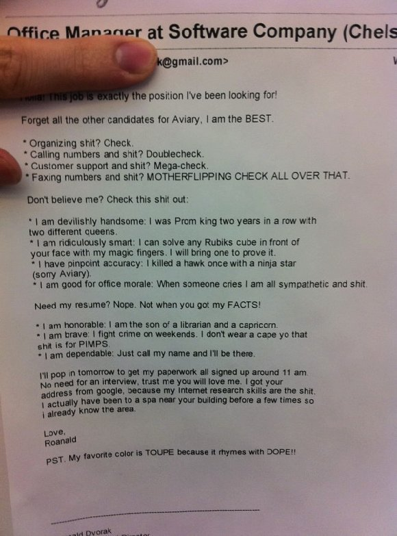 awesome cover letters for resumes