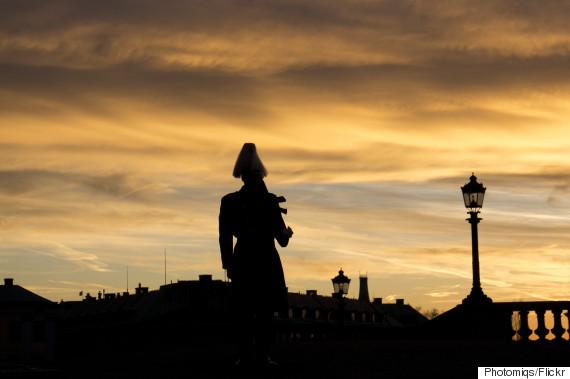soldier dusk