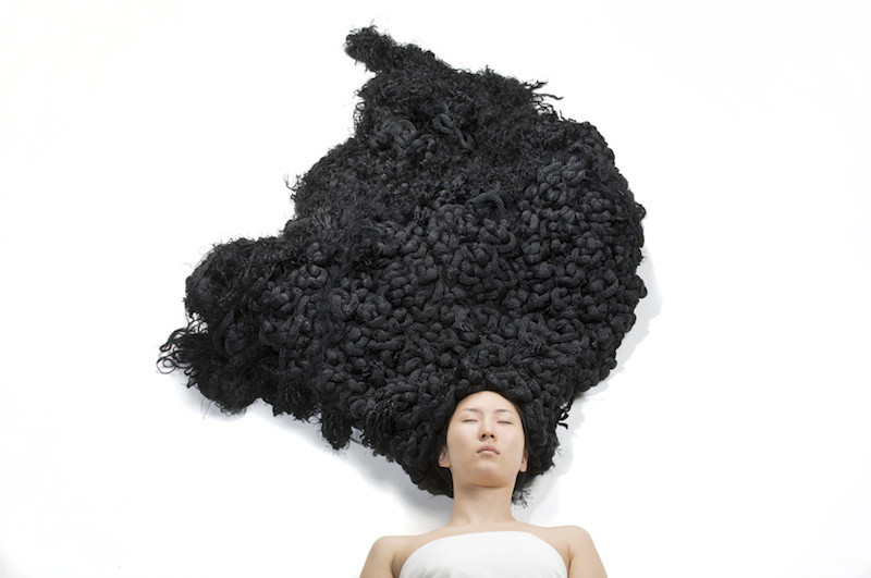 This Is Comfort Hair A Live Sculpture That Beautifully