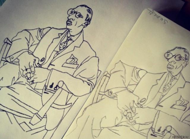 picasso stravinsky sketch