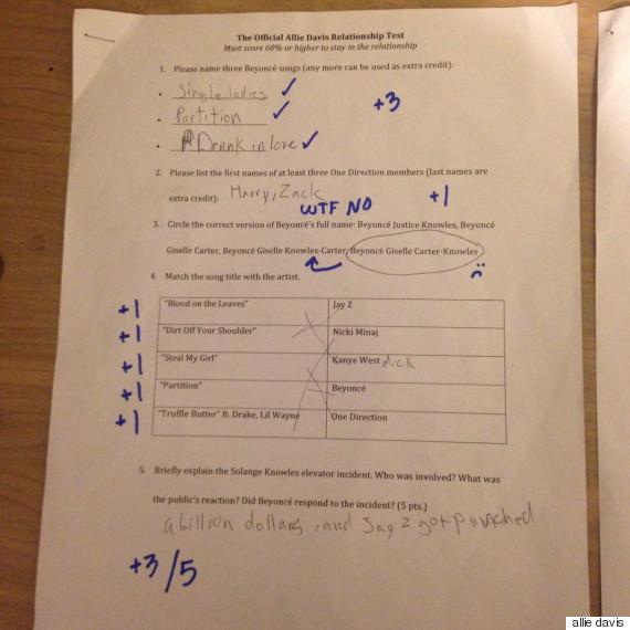 beyonce exam 1