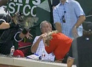 George W Bush Foul Ball Pierzynski
