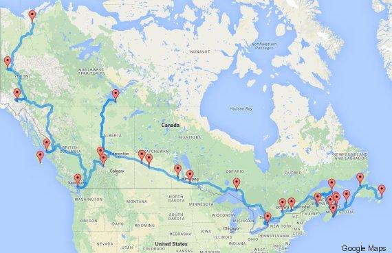 canada voyage road trip