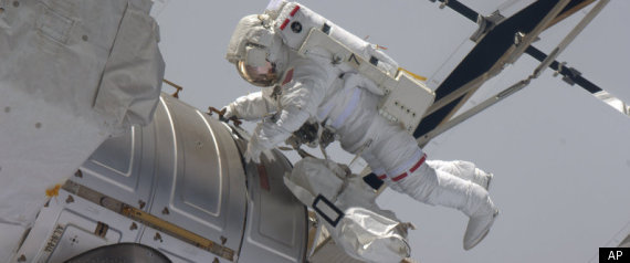 Astronaut Spacewalk Eye Endeavour