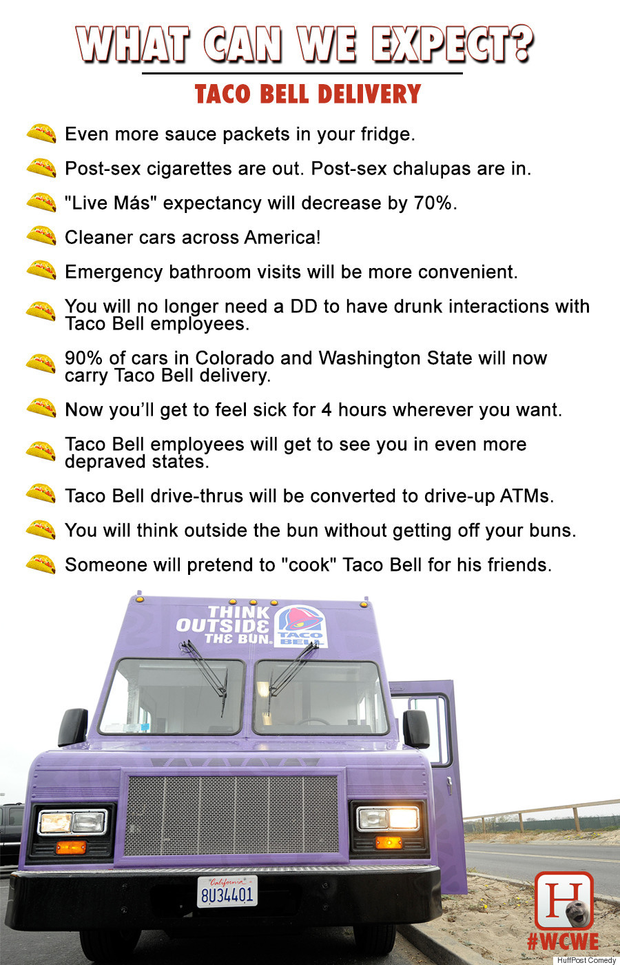 wcwe taco bell delivery