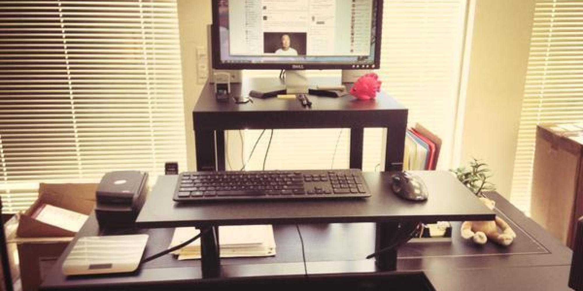 This 22 Standing Desk Is The Ultimate Ikea Hack Huffpost