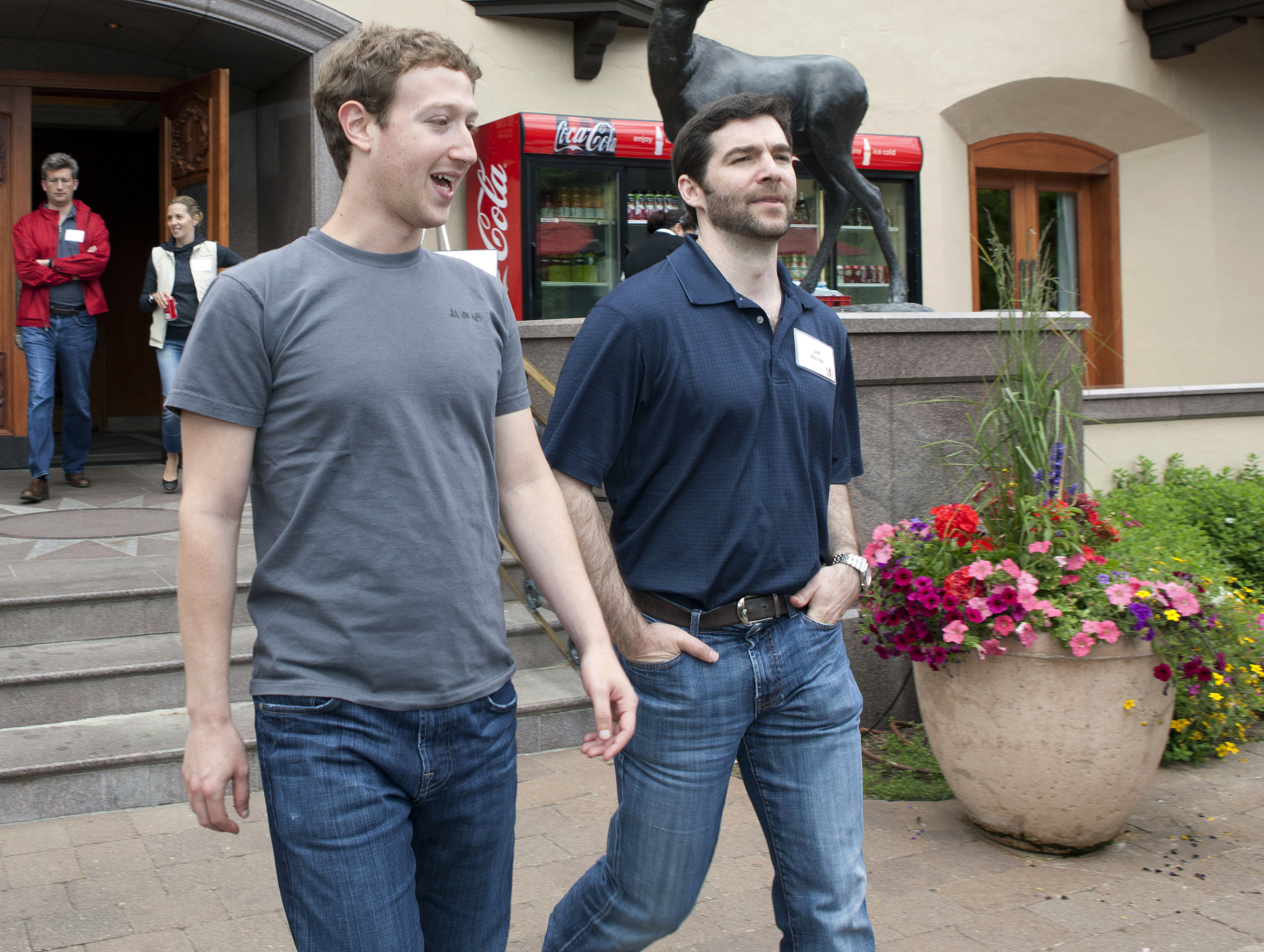 zuckerberg walking