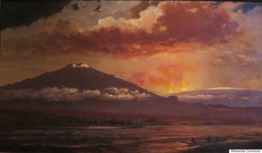 These haunting paintings show what hawaii 39 s volcanoes for Paesaggi marini dipinti