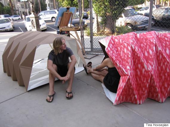 tina hovsepian homeless origami