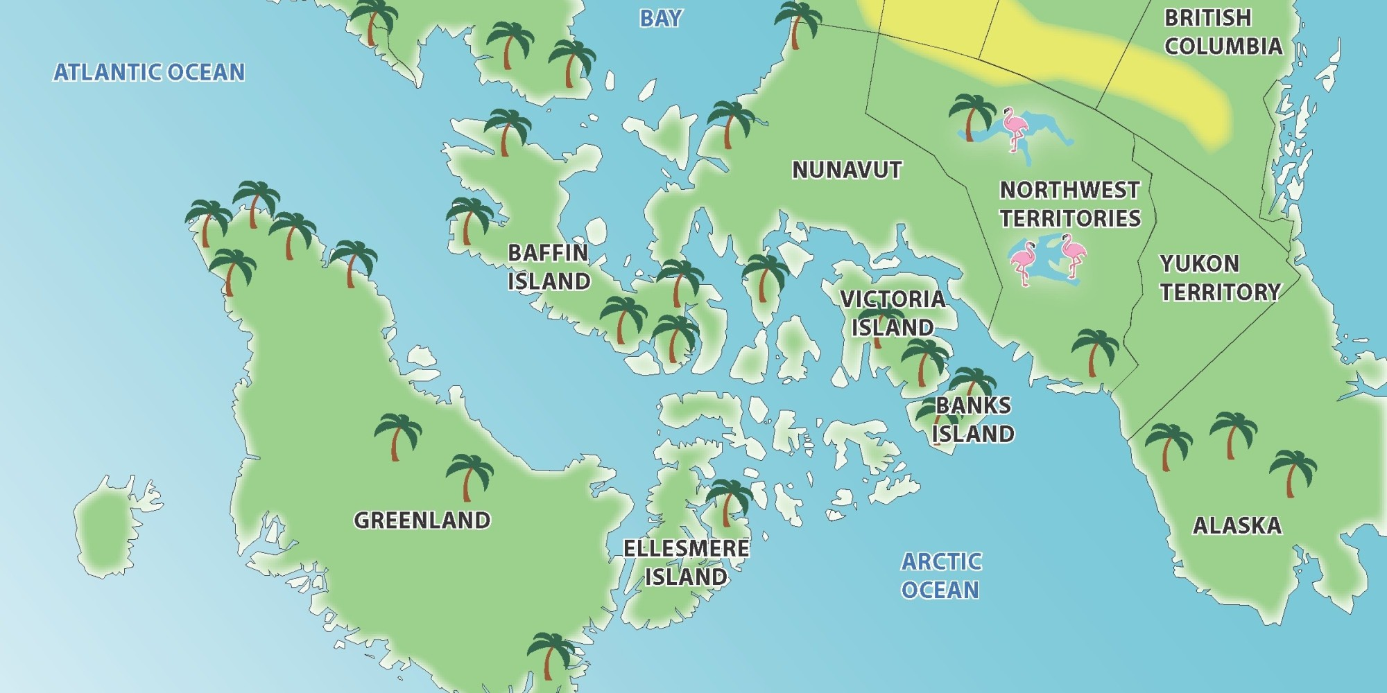 North America Map Of North America Policy Briefs English Water - Arctic ocean on us map