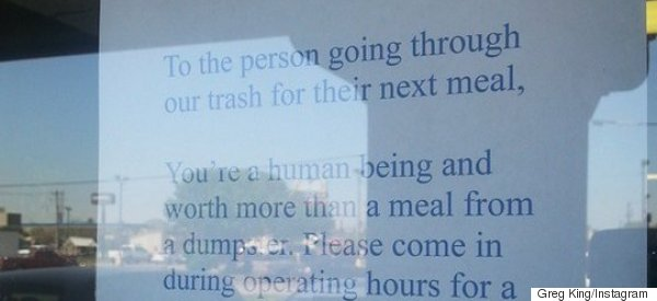 Restaurant Owner Has A Message For Man Taking Food From Bins