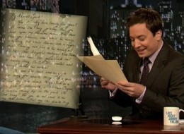 WATCH: Fallon's Touching Letters To Oprah