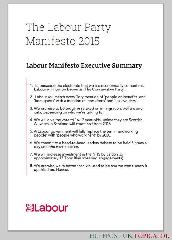 labour manifesto spoof