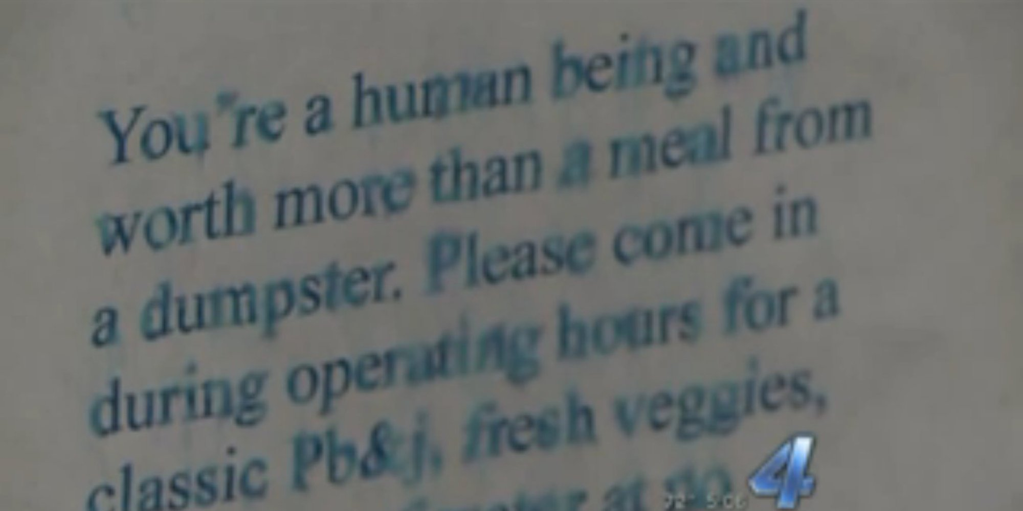 Restaurant Owner Noticed Someone Digging In Dumpster, So She Wrote Them A Powerful Note