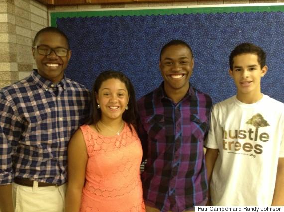 The Johnson-Campion children: Tevin, Mackenzie, Tyler and DeSean, 2014.