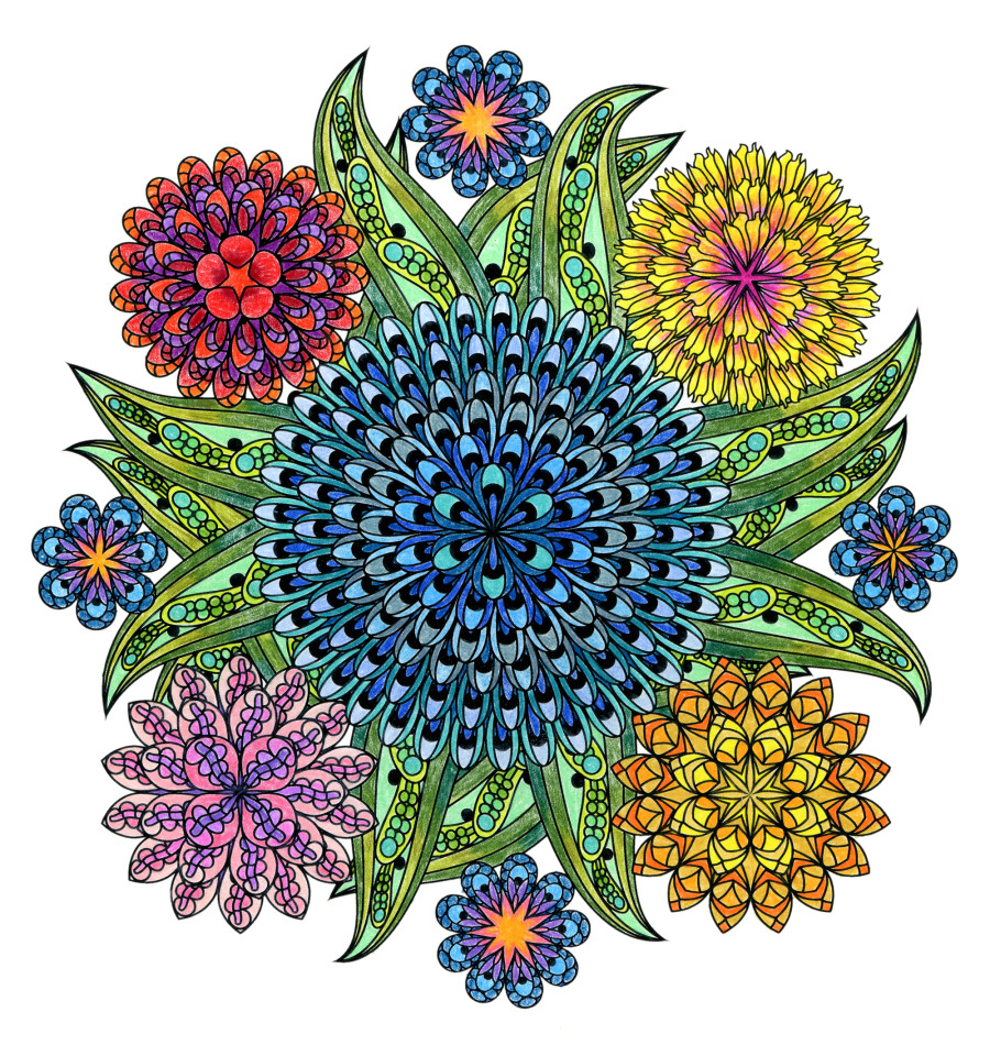Zen coloring books for adults app - Mandala The Coloring Book