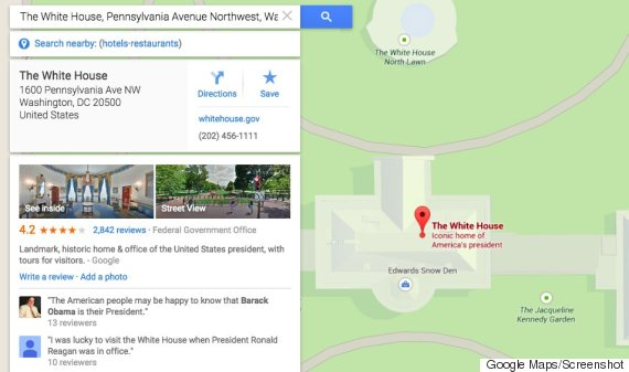 Edward Snowden Is In The White House, According To Google Maps ...