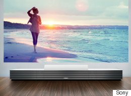 Stylish $50k Cabinet Is Actually A Massive 147-inch 4K Projector