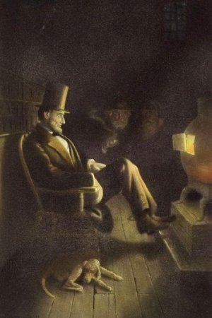 lincoln by the fire