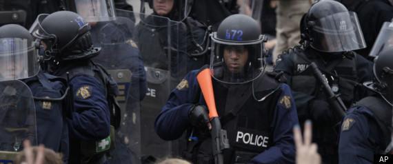 G20 POLICE PROTEST