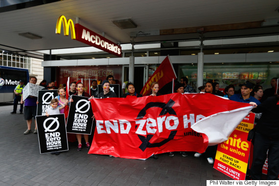 fast food protest 2015