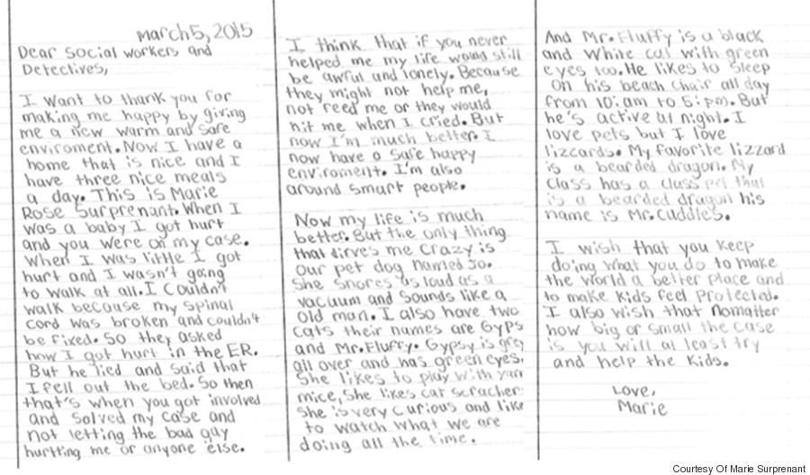 Girl who was abused writes beautiful note to her social for Social work case notes template