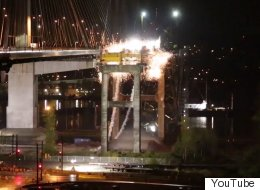 Old Port Mann Bridge Goes KABOOM!