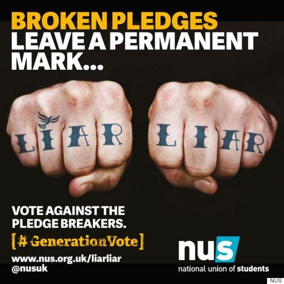 nus poster campaign lib dems