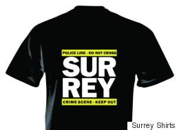 T-Shirts Spoof Surrey Mayor's Crime Comment