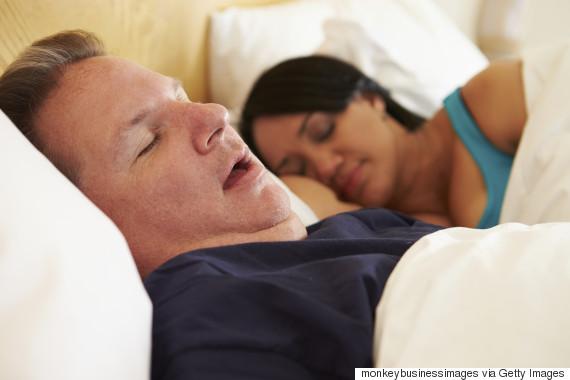 overweight man sleep